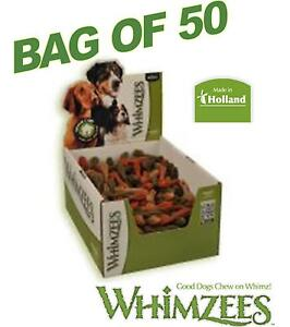 Whimzees-XXS-47mm-Toothbrush-Bag-of-50-Vegetarian-Dog-Chews-3-Flavour-Mix