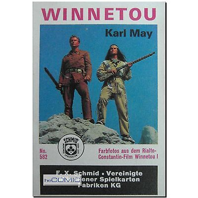 Winnetou I 36 Farbfotos Rialto-Constantin-Film Karl May QUARTETT Kartenspiel RAR