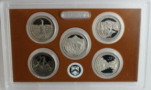2011 S America the Beautiful Quarters Proof Set ATB 25c Coin US Mint Box and COA