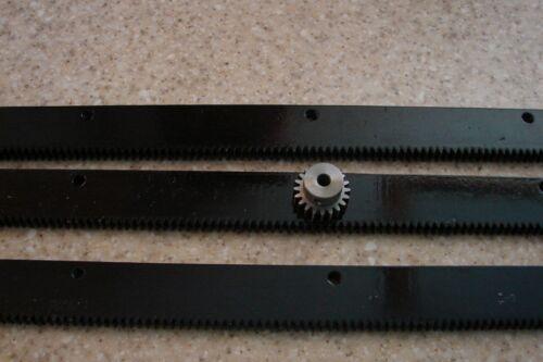 "3x24/""pcs +1//4/"" 20T Pinion Gear CNC Plasma table  Mech Rack /& Gear 72/""  Rack"