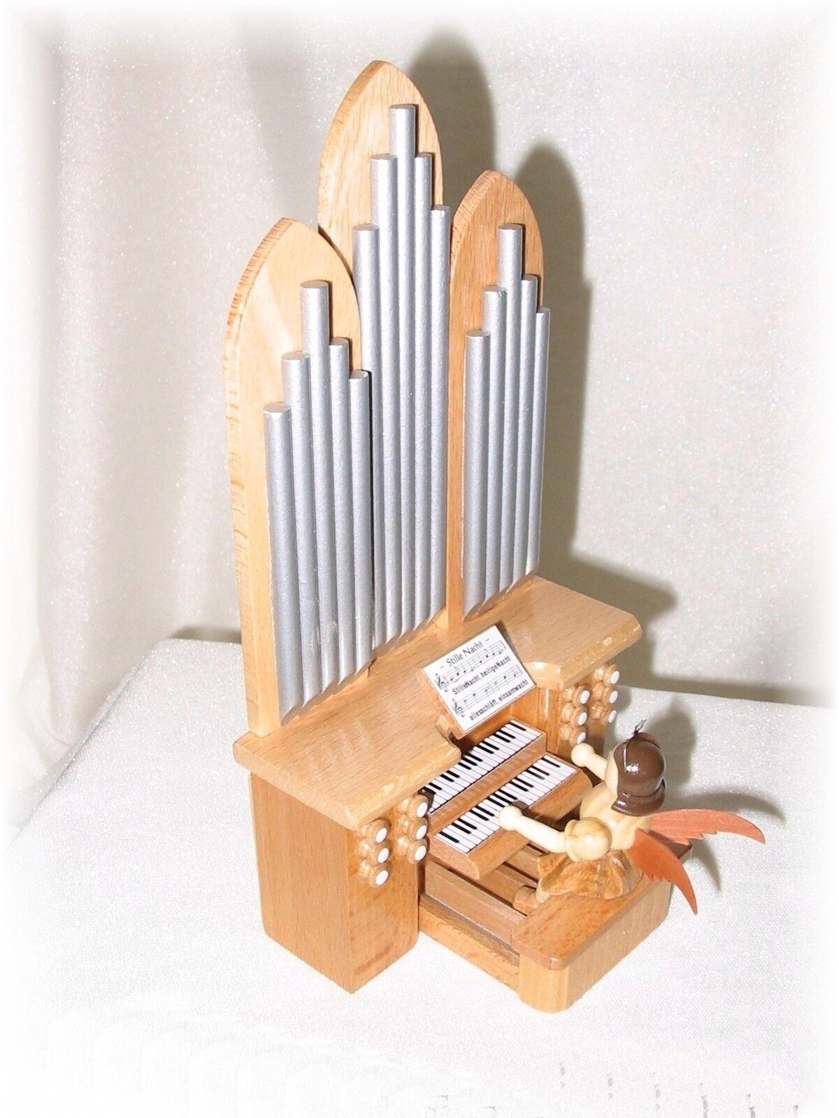 Blank anges M. à l'orgue M. anges Spielwerk-Nature kurzrockengel aa0265