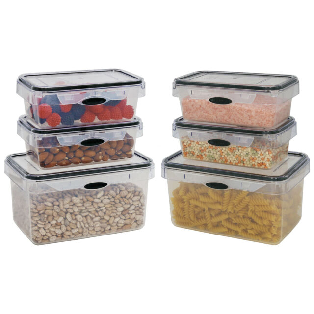Food Storage 12 Piece Set Rectangular Air Tight Plastic Container Kitchen For Sale Online Ebay