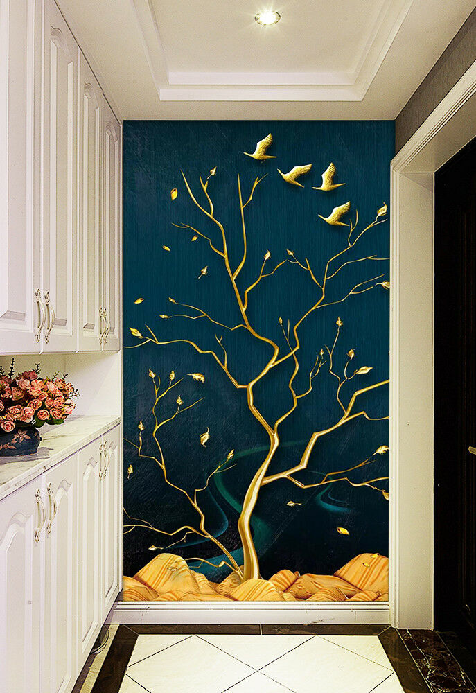 3D Golden Tree 836 Wall Paper Exclusive MXY Wallpaper Mural Decal Indoor Wall AJ