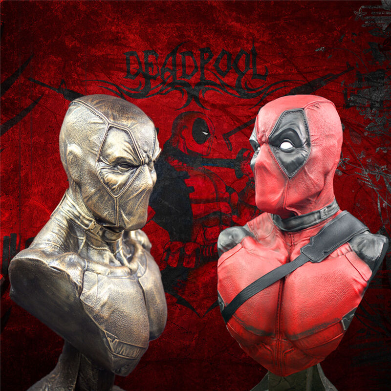 New 1 3 Scale Super Hero Deadpool Bust Resin Bust Statue Recast 13 Inch High
