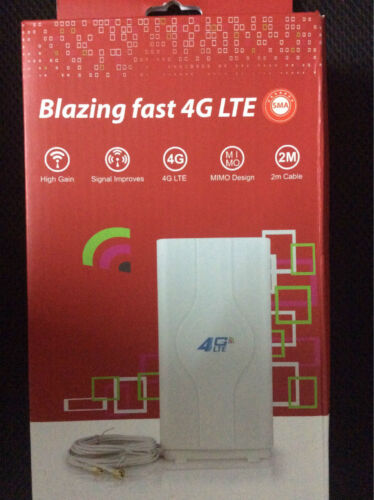 49DBI Blazing Fast 3G 4G LTE MIMO Indoor Antenna Two SMA Interface 2m Cable GAIN
