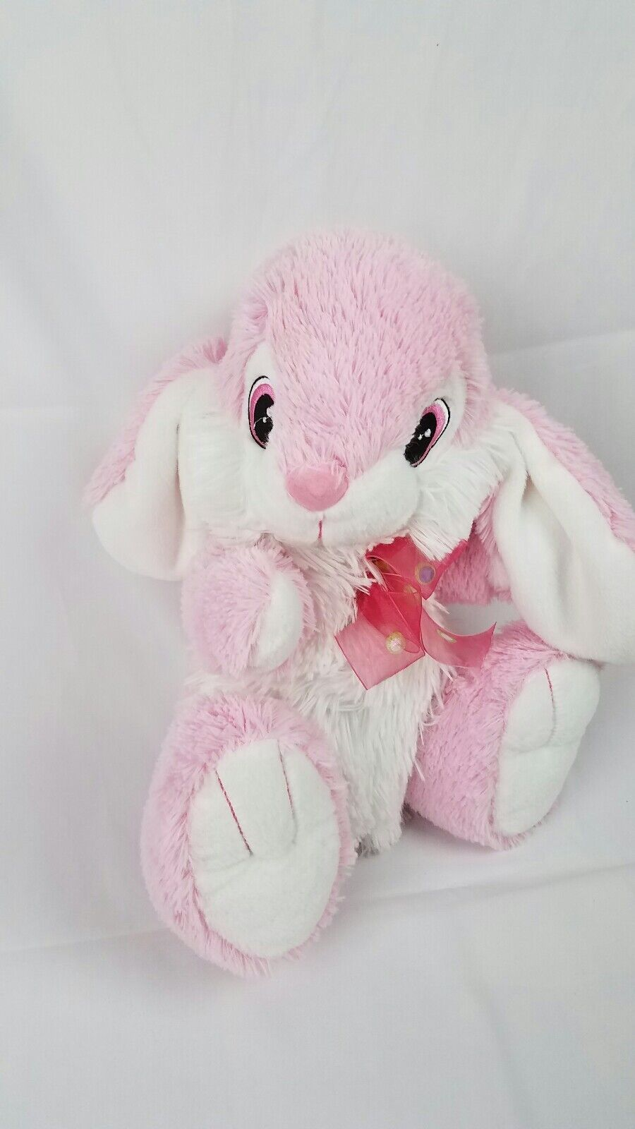 Dan Dee Collectors Choice Plush Easter Bunny Rabbit Rosa Weiß 16
