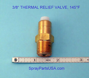 """3/8"""" NPT THERMAL RELIEF VALVE FOR PRESSURE WASHERS, 145°F"""
