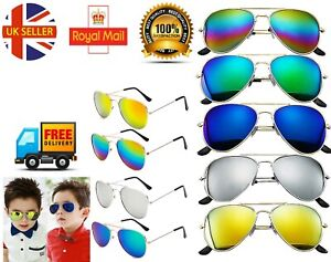 Kids Sunglasses Boys Girls Shades Lens Childrens Classic Vintage Holiday UV400