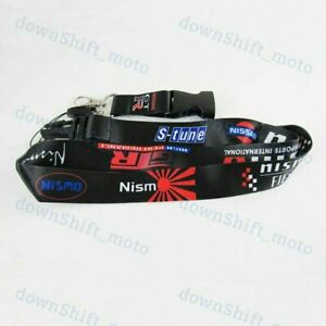 NEW Lanyard Red KeyChain Cell Phone Strap Quick Release For NISSAN JDM NISMO