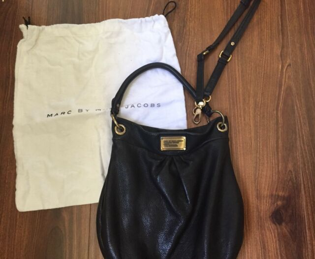 3466dd815a8b Marc by Marc Jacobs Classic Q Hillier Hobo In Black With Gold Hardware  498