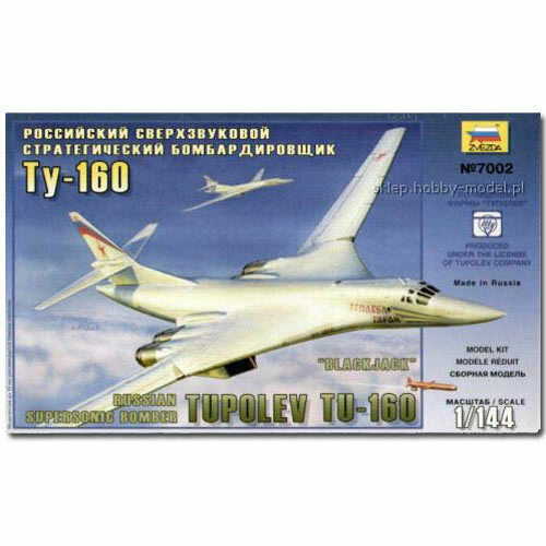 Zvezda 7002 Russian Supersonic Bomber Tupolev TU-160 Plastic kit 1:144 New !