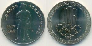 Analytique Rda Médaille Jeux Olympiques, Août Schärttner, Promotion Olympique Idée 1979-afficher Le Titre D'origine