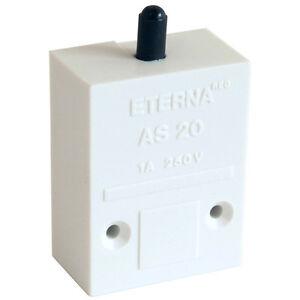 Push-to-Break-Autoswitch-Beleuchtung-Druckschalter-Schranktuer-Schalter-weiss