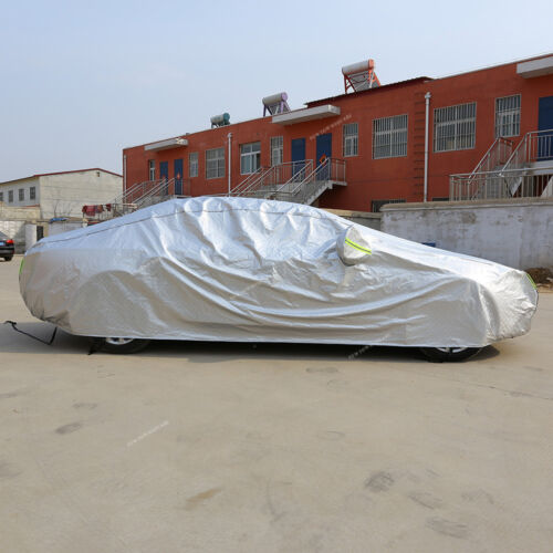 ALUMINUM Car Cover Waterproof Sun UV Snow Dust Resistant for AUDI A4 VW Jetta