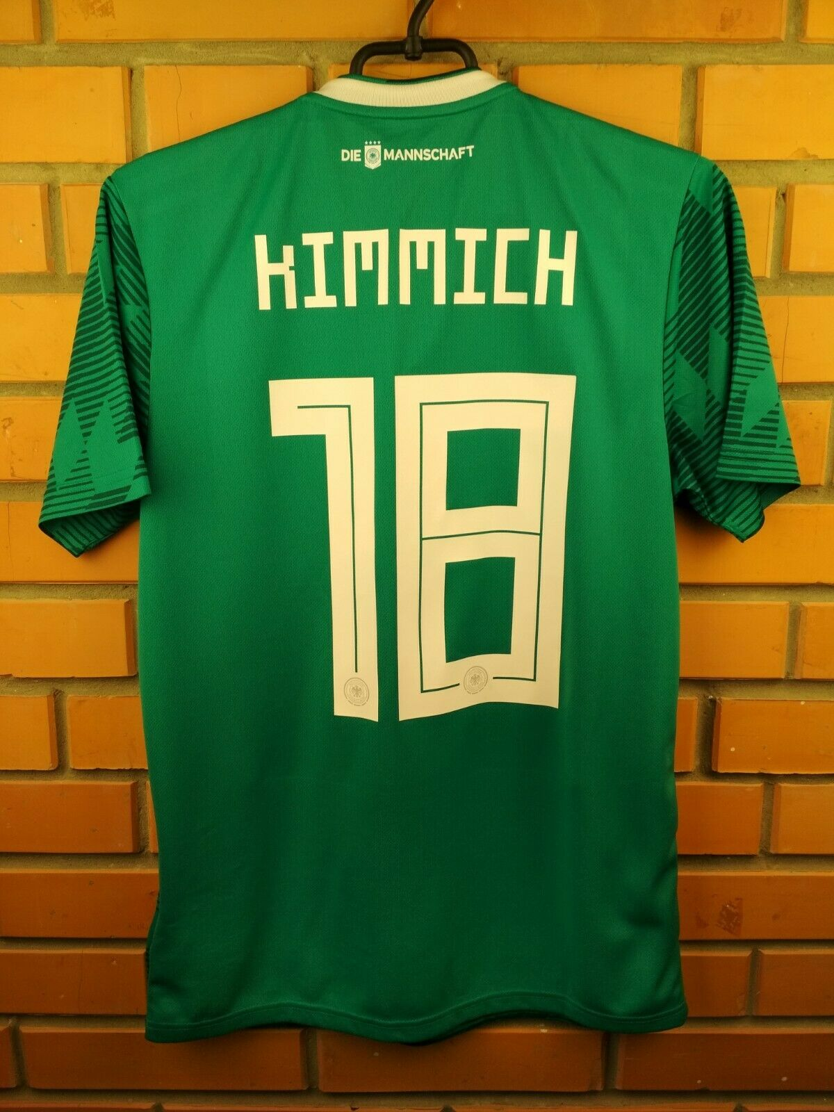 5136dfa6a Kimmich Germany soccer jersey small 2019 away shirt BR3144 football Adidas