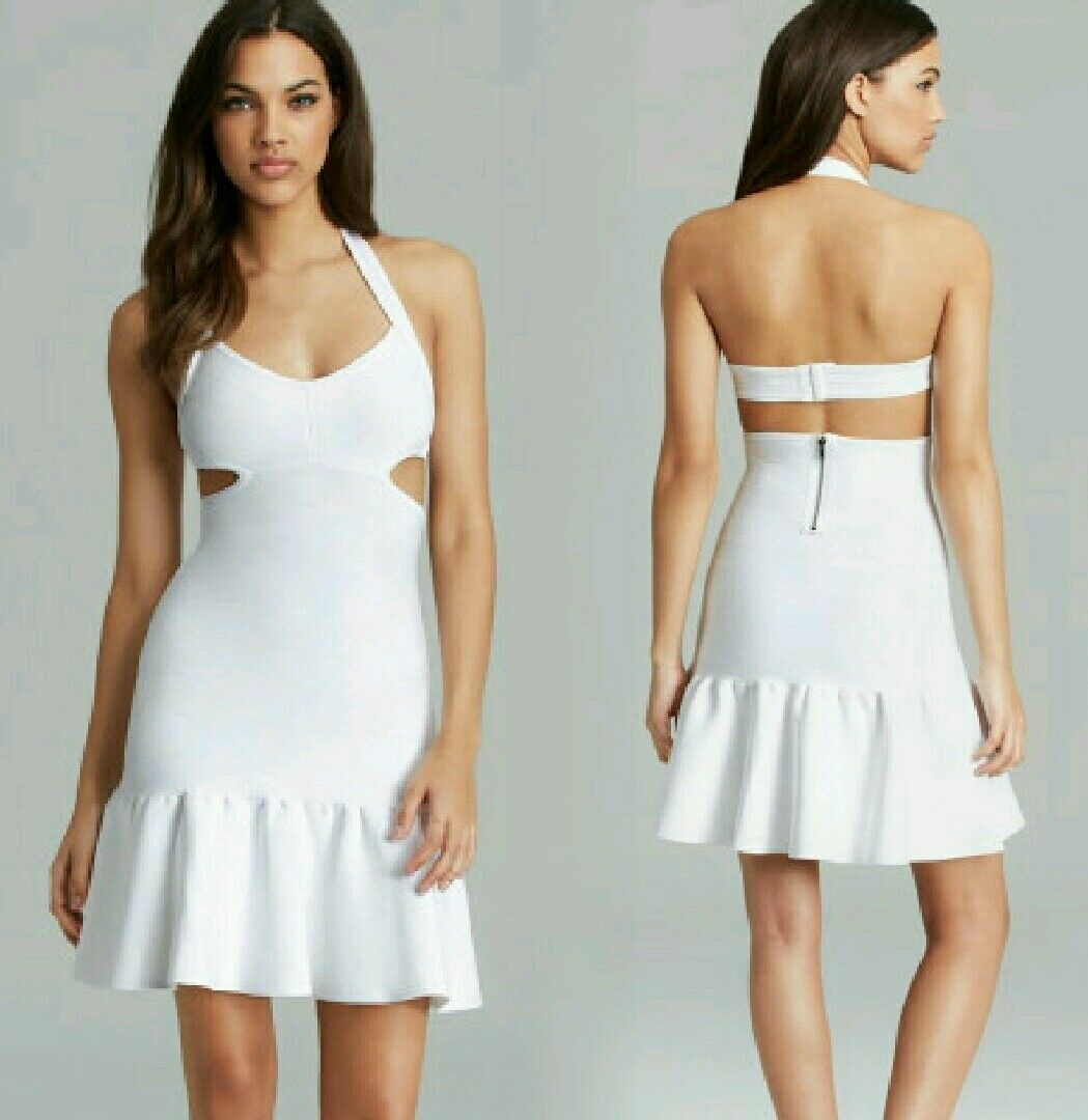 NWT GUESS Weiß Mirage Sleeveless Bandage Dress with Cutouts Größe M