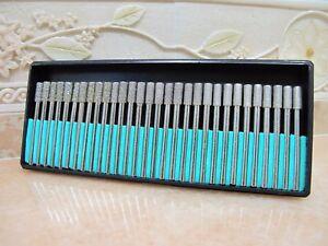 30-DIAMANT-4MM-zylinder-3-GRIT-Diamantfraeser-Fraeser-Schleifstift-fuer-Dremel