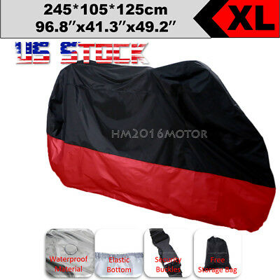 L Size Black Red Motorcycle Waterproof Cover for Yamaha YZF R1 R1S R6 R6S