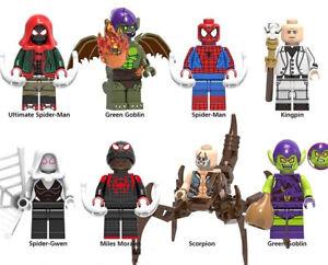 Marvel-Spiderman-Miles-Morales-Green-Goblin-Ultimate-Kingpin-Noir-Gwen-Scorpion