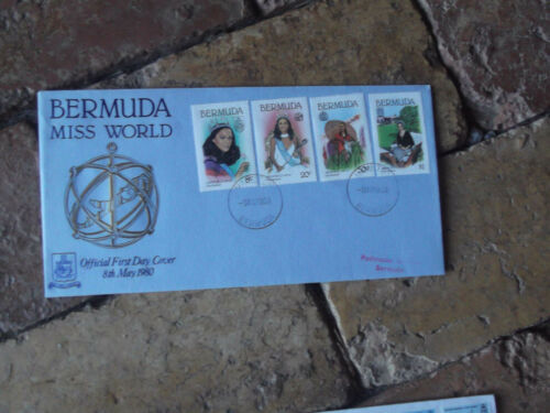 1980 BERMUDA MISS WORLD GINA SWAINSON FIRST DAY COVER FISH