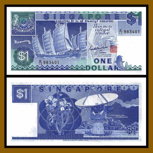 ND 1987 P-18 Sailboat Fish Unc Singapore 1 Dollar x 10 Pcs