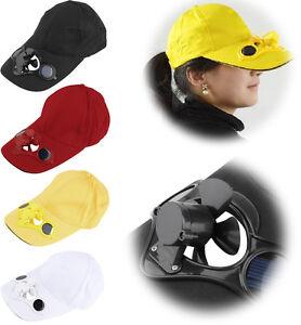Sommer-Solar-Ventilator-Muetze-Baseball-Cap-Basecap-Kappe-Cappy-Hut-mit-Luefter-yp