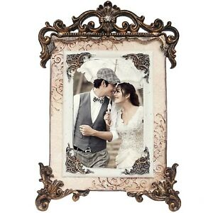 Vintage Table Top Decor Wedding Photo Picture Frame Holds 4x6 Inch