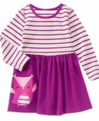NEW Gymboree Girls Outfit Purple Owl T-shirt matching Gray Leggings size 2T 4T