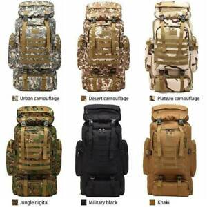 80L-Military-Backpack-Adjustable-Strap-Tactical-Camping-Hiking-Travel-Bag-Hot