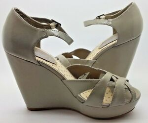 best sale casual shoes new lifestyle Details about New Look Shoes Wedges Open Toe Grey Patent Buckle Strap  Summer Going Out 5 / 38