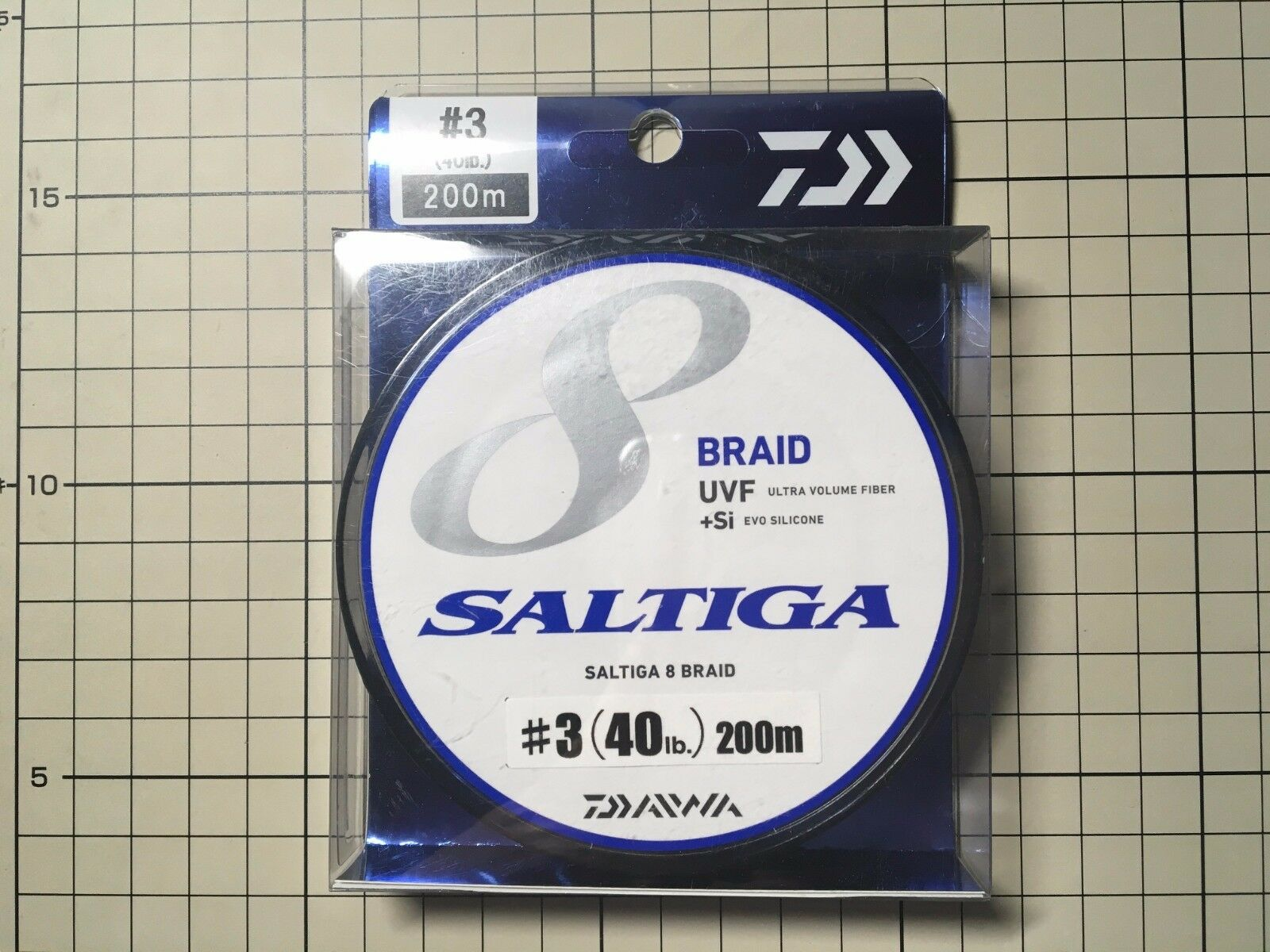 Daiwa Saltiga 8 Braid UVF +SI Evo Silicone PE line  3 (40lb) 200m