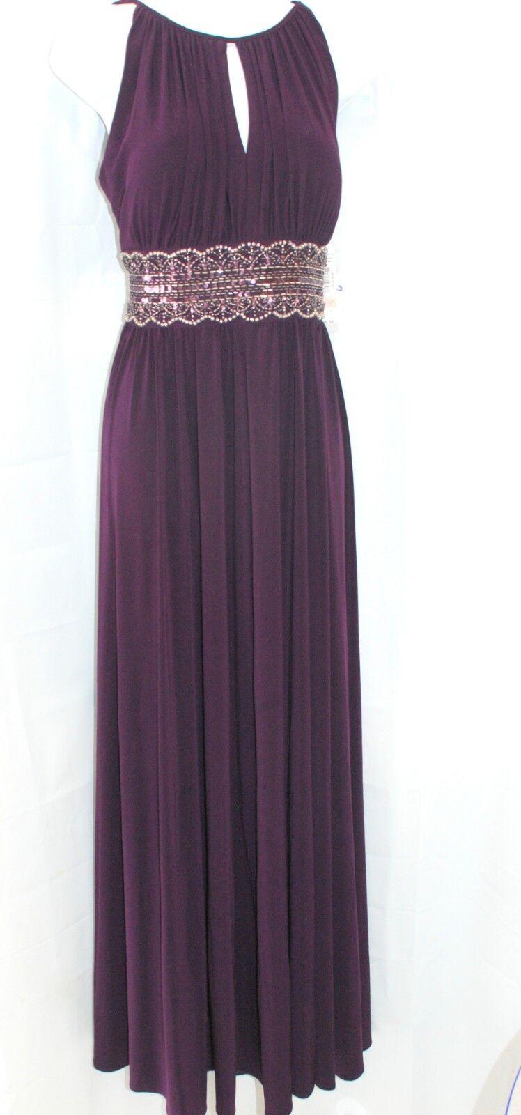 R & M Richards Long Evening Evening Evening beaded elegant dress size 10 4b3a90