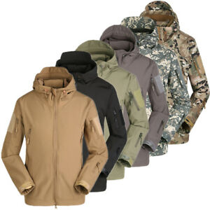 Sports & Entertainment Symbol Of The Brand Outdoor Sports Mens Tactical Fleece Softshell Jackets Army Camo Military Combat Hooded Thermal Hunting Windbreaker Coat Hiking Jackets