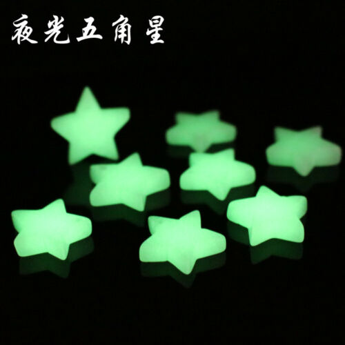 8Pcs Delicate Nice Green Luminous Stars Pendant Bead 16*16*21mm HH2599