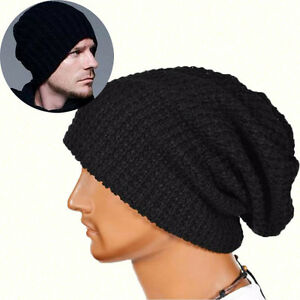 207bf42a9 Details about Fashion Cool Men Women Warm Winter Knit Ski Beanie Skull  Slouchy Cap Hat Unisex