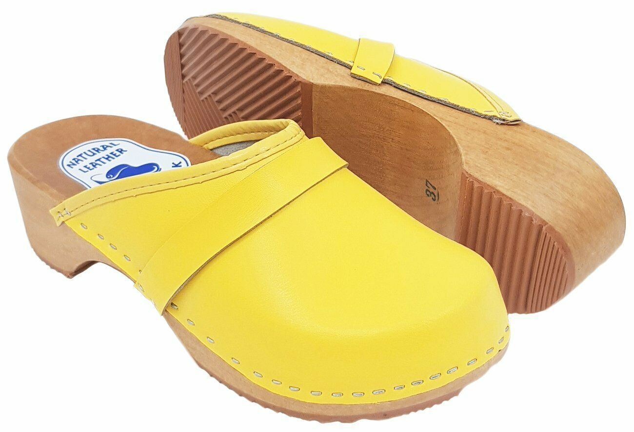 Amazing handmade women clogs wooden sole with straps different colors