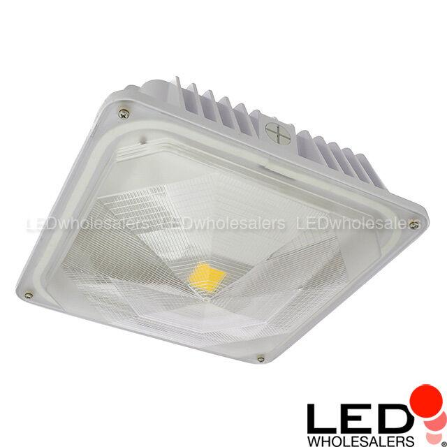 LEDwholesalers 35-watt Outdoor LED Canopy Ceiling Light Fixture   eBay