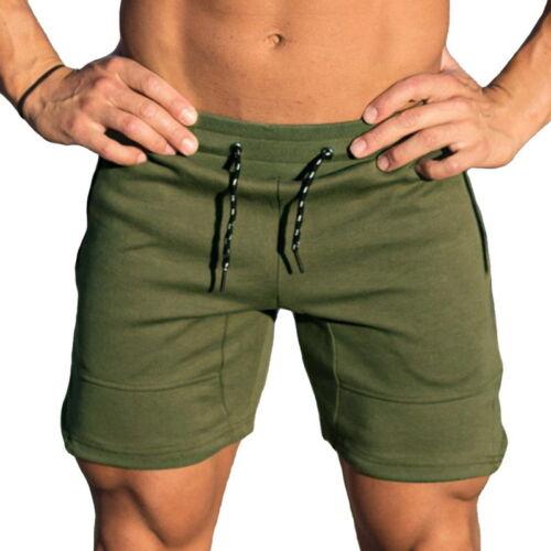 Stylish Mens Shorts Bodybuilding Running Training Fitness Workout Cotton Shorts