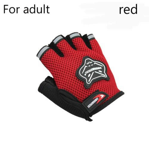 1 Pair Breathable Mesh Touch Screen Cycling Bike Half Finger Gloves