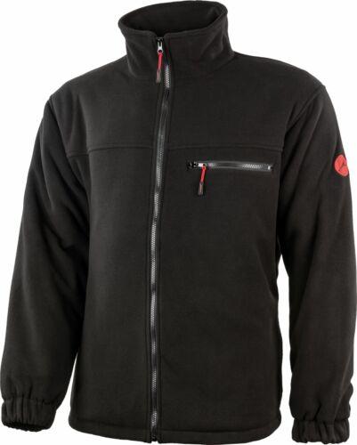 Albatros Warmfleece-Jacke POLAR mit warm wattiertem Stepfutter schwarz