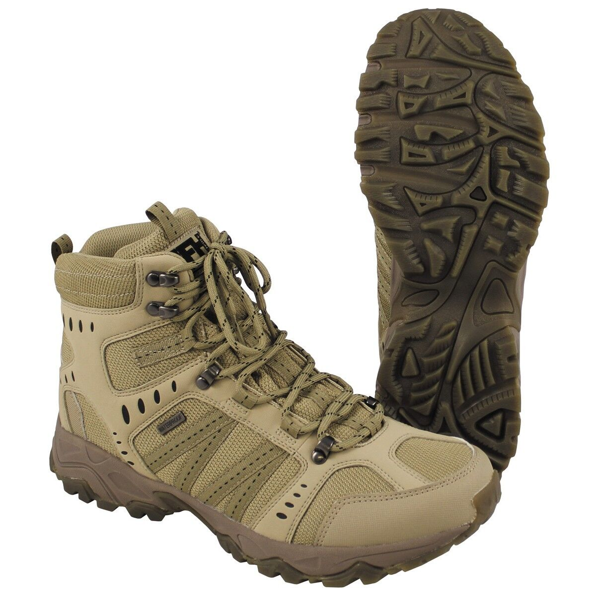 MFH Anfibi Scarponi Stivali uomo donna militari Trekking Combat Boots Tactical