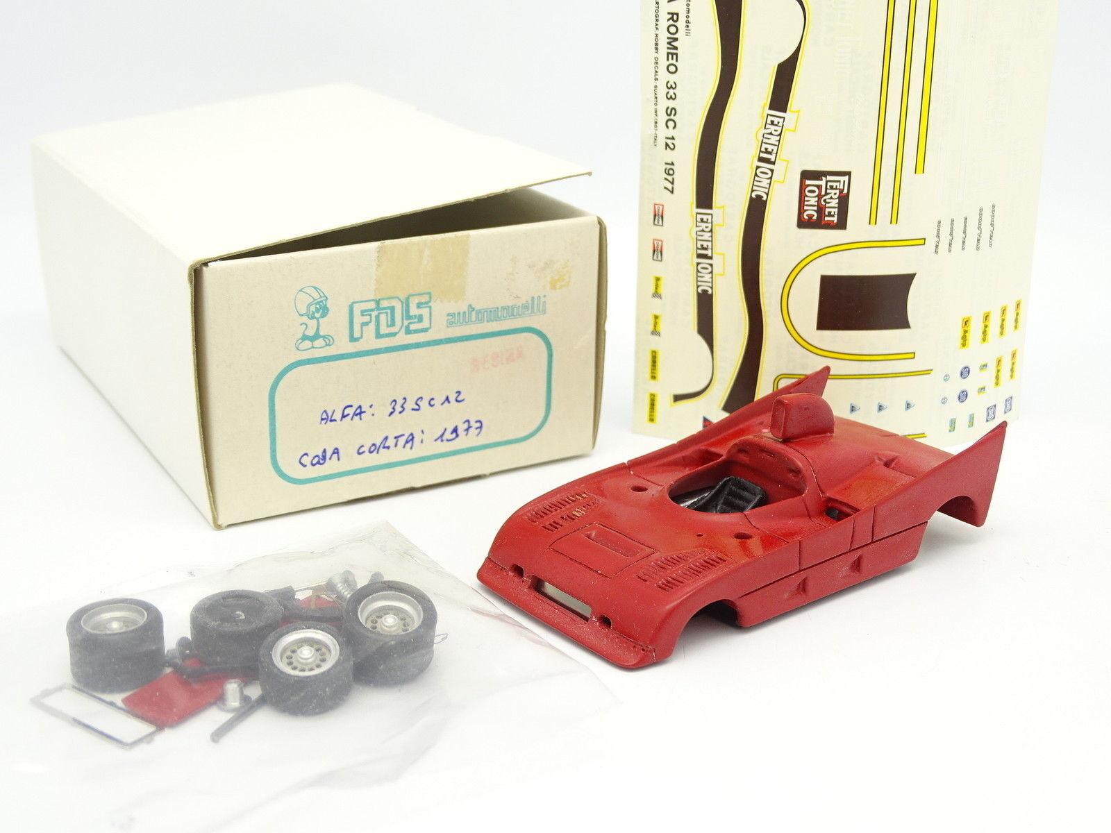 FDS Set zum Zusammenbauen 1 43 - Alfa Romeo 33 SC12 Coda kurz 1977