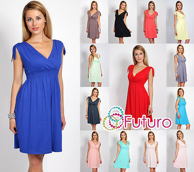 Sensible Women's V-Neck Dress Tunic Style Ribbing Sleeveless Size 8-12 8430