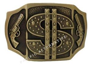 Boucle de Ceinture metal avec Briquet essence dollar doré or homme ... a2e25b21339