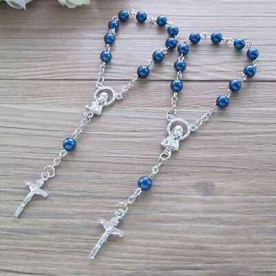 First Communion Favors Birthday Gift Baptism Gifts Small Rosaries 10 Mini Personalized Rosaries Favors