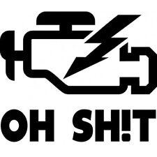OH SHIT Motorkontrollleuchte // Sticker JDM Aufkleber Frontscheibe