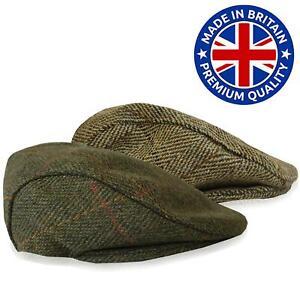 Childrens Tweed Peaky Blinder Flat Cap Outdoor Hat Hazy Blue
