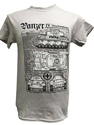 World War II German Army Tanks Military T Shirt With Blueprint Design.
