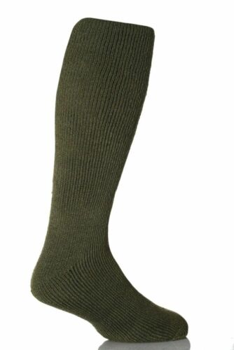 Mens GENUINE Thermal Winter Warm Heat Holders LONG Socks size UK 6-11 EUR 39-45