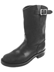 Details about Canada West Engineer Black Biker Leather Boots Size US.8 8.5 Men's US.9.5 Wmn's